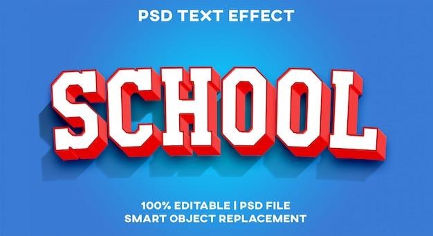 Efeito de texto escolar
