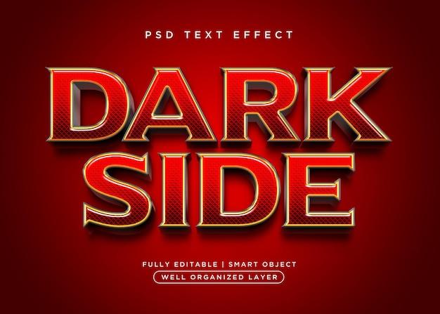 Efeito de texto escuro estilo 3d