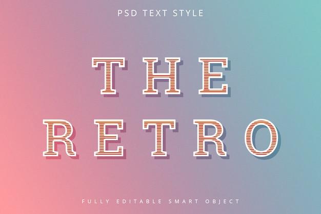 Efeito de texto estilo retro
