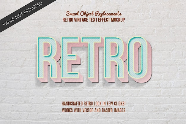 Efeito de texto estilo vintage retrô