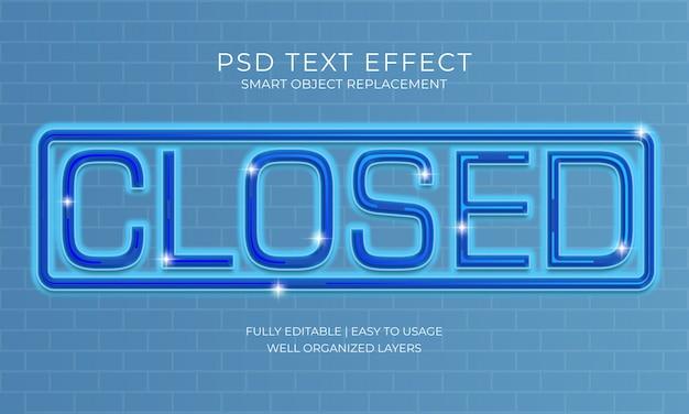 Efeito de texto fechado