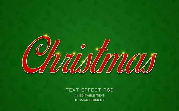 Efeito de texto festivo de natal