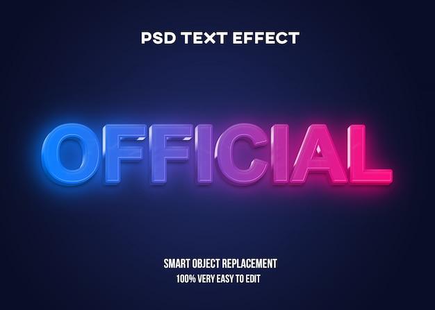 Efeito de texto futurista 3d
