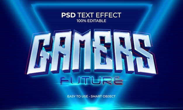 Efeito de texto futuro de gamers