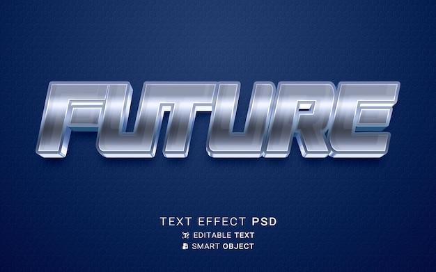 Efeito de texto futuro