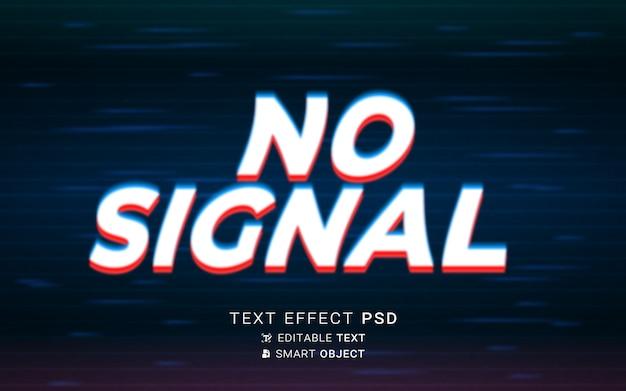 Efeito de texto glitch futurista