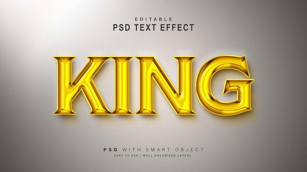 Efeito de texto gold king