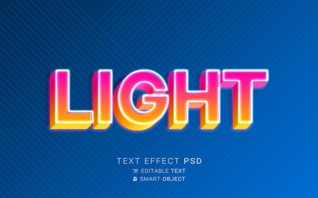 Efeito de texto gradiente neon