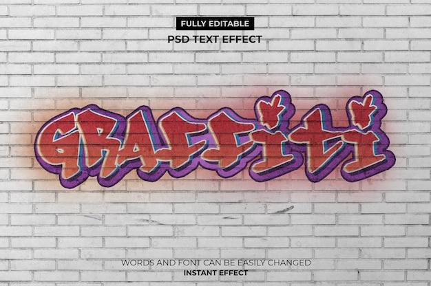 Efeito de texto graffiti