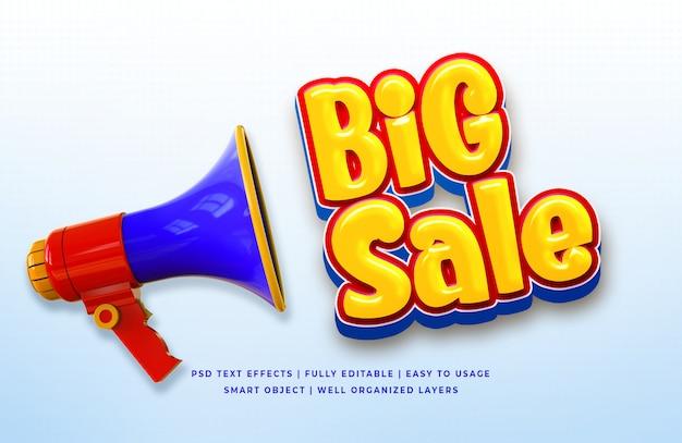 Efeito de texto grande venda