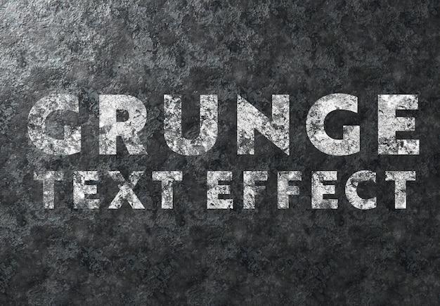 Efeito de texto grunge no modelo de textura de metal
