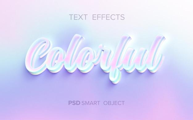 Efeito de texto holográfico