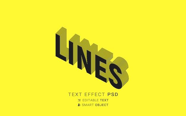 Efeito de texto isométrico criativo