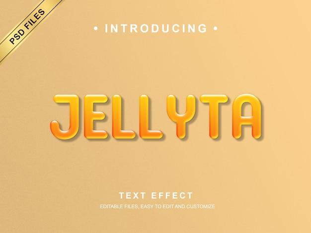 Efeito de texto jellyta