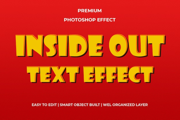 Efeito de texto laranja de dentro para fora