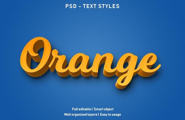 Efeito de texto laranja