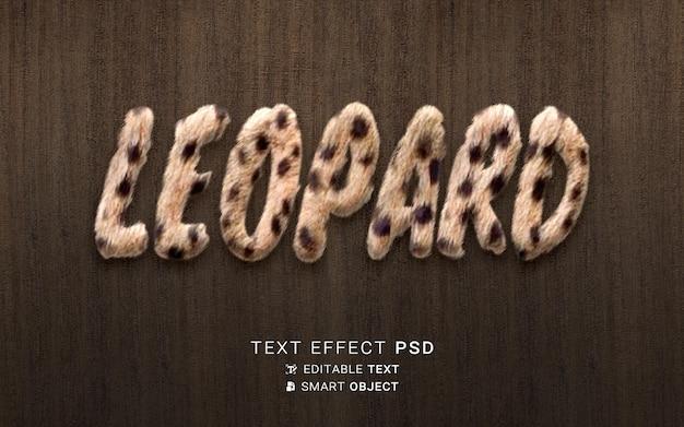 Efeito de texto leopardo lindo