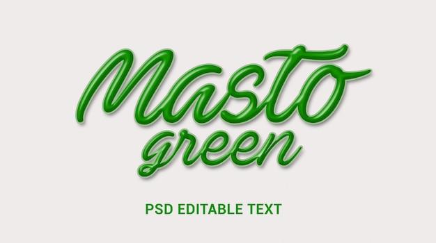 Efeito de texto letras verdes