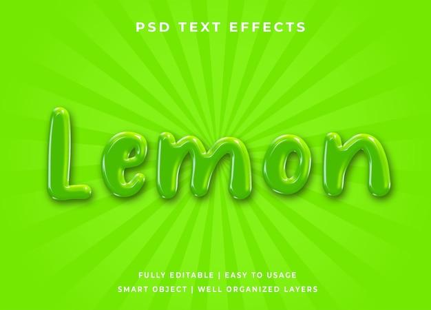 Efeito de texto limão 3d