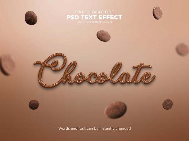 Efeito de texto líquido de chocolate Psd Premium