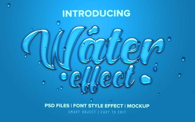Efeito de texto líquido em água 3d