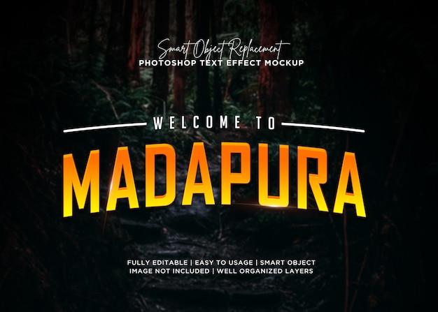 Efeito de texto madapura estilo 3d