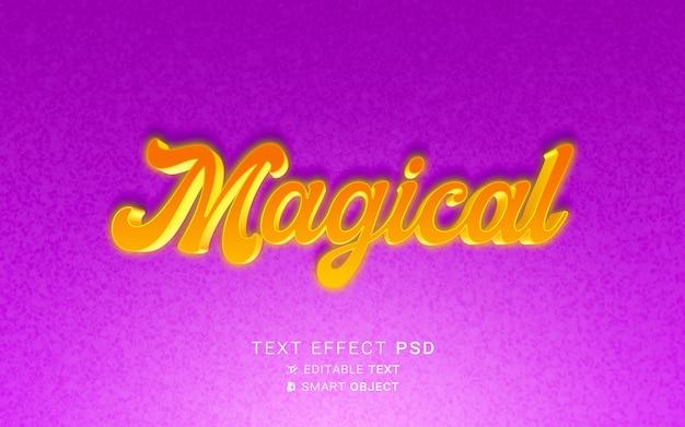 Efeito de texto mágico lindo