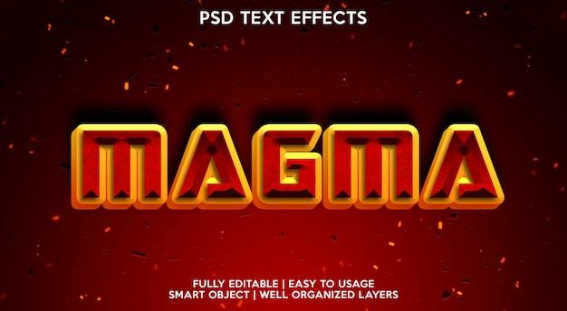 Efeito de texto magma