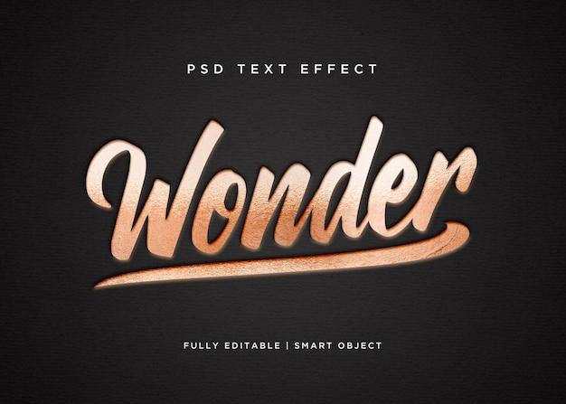 Efeito de texto maravilhoso do estilo 3d