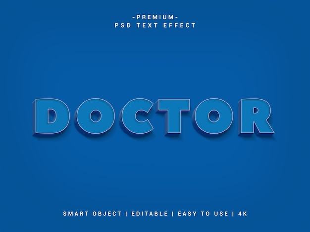 Efeito de texto médico