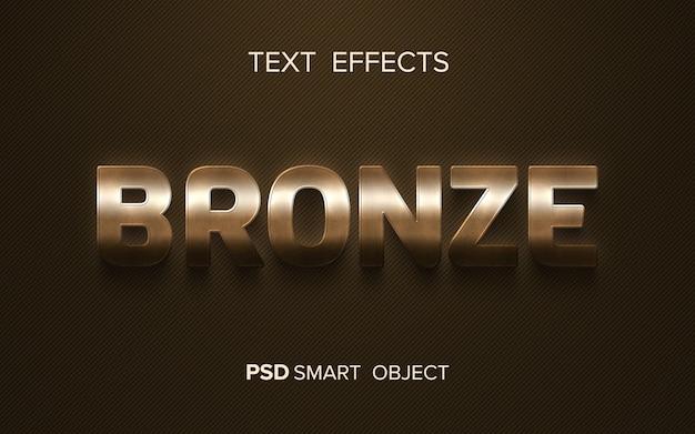 Efeito de texto metálico criativo