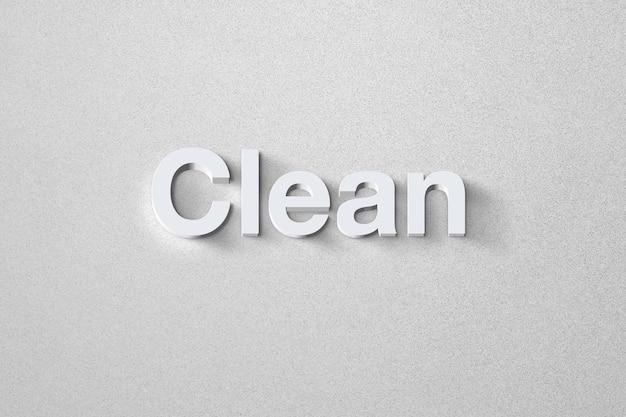 Efeito de texto moderno e limpo com um modelo de estilo elegante