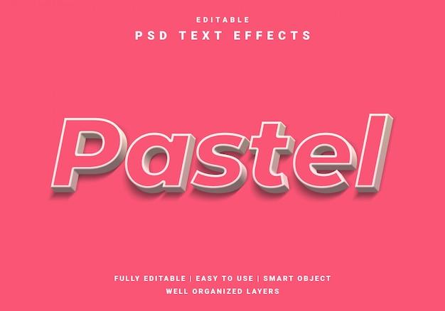 Efeito de texto moderno em cor pastel 3d