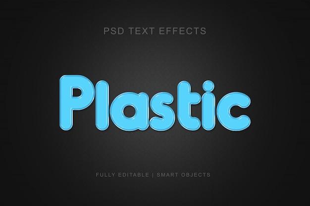 Efeito de texto moderno estilo plástico gráfico