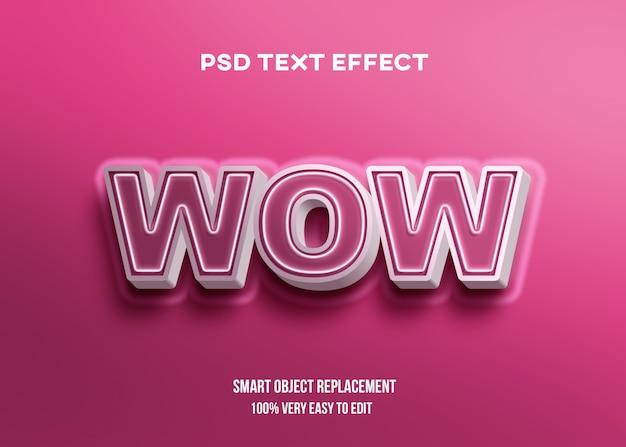 Efeito de texto moderno vermelho