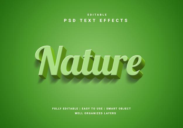 Efeito de texto natureza 3d