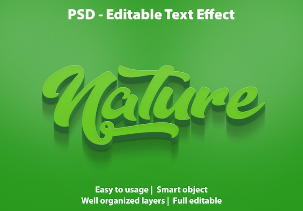 Efeito de texto natureza