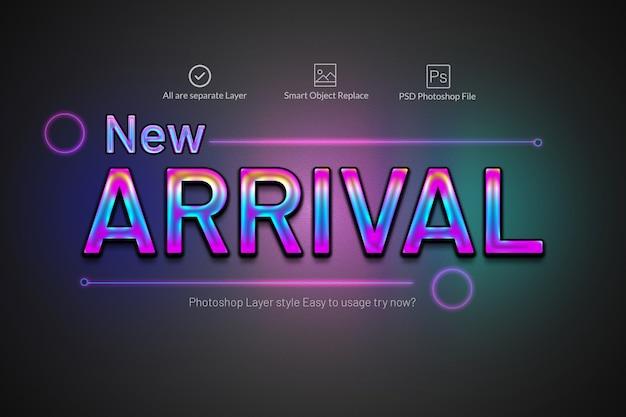 Efeito de texto néon colorido