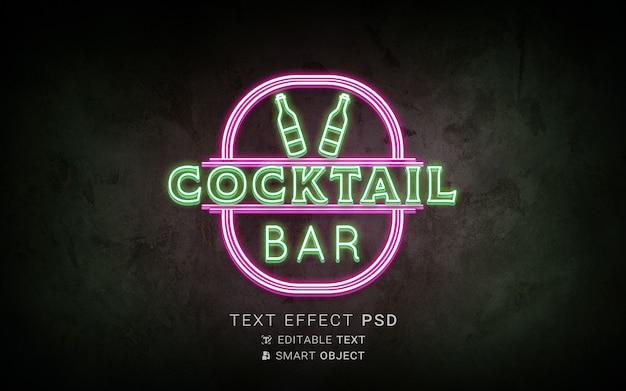Efeito de texto neon criativo