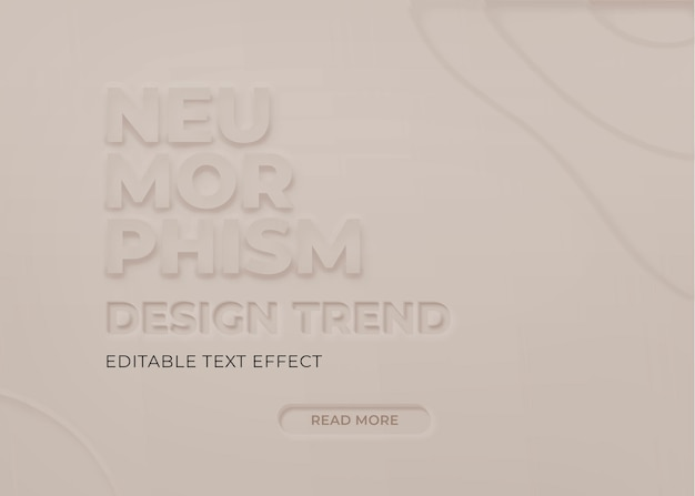 Efeito de texto neumorfo