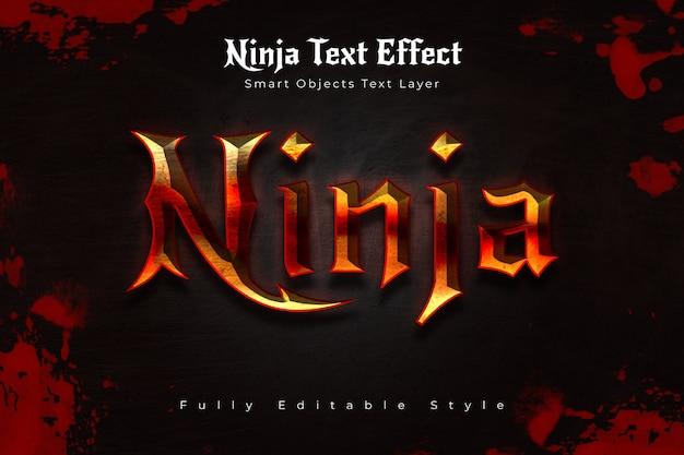 Efeito de texto ninja