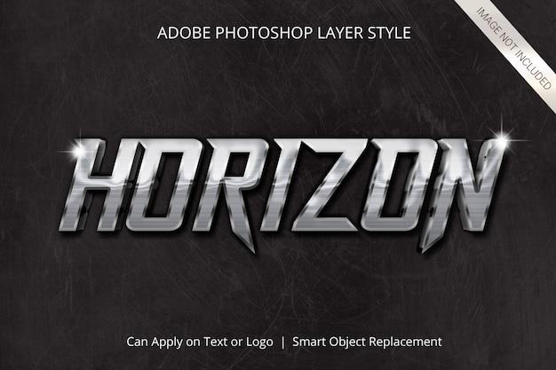 Efeito de texto no estilo de camada do adobe photoshop