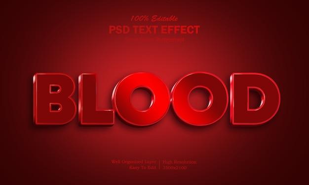 Efeito de texto no sangue