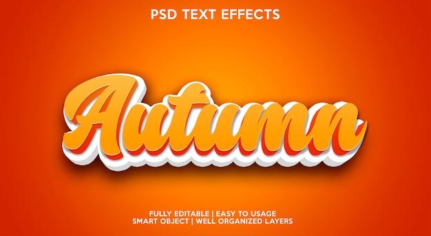 Efeito de texto outono moderno