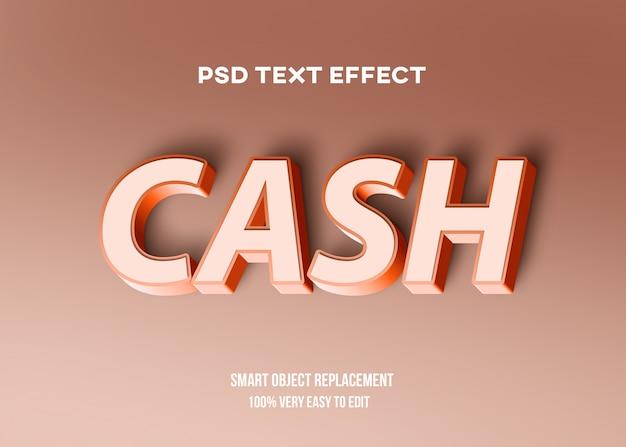 Efeito de texto pastel vermelho 3d
