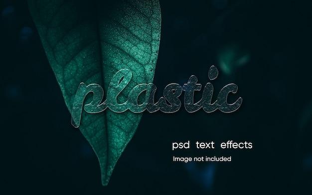 Efeito de texto plástico editável