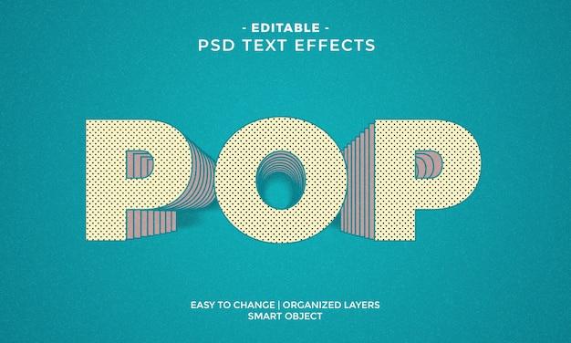 Efeito de texto pop colorido impressionante