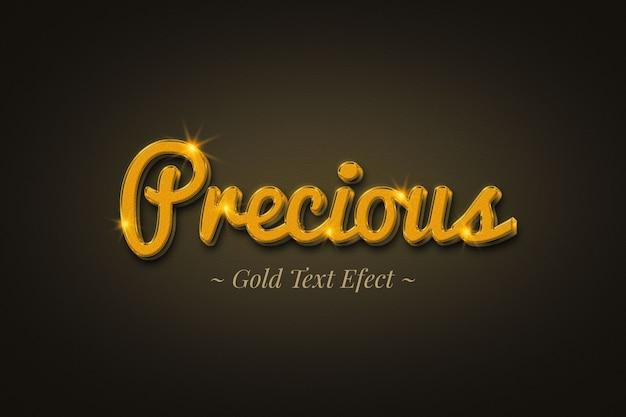 Efeito de texto precioso em ouro
