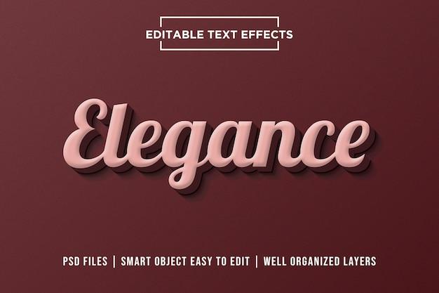 Efeito de texto premium com elegância