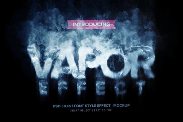 Efeito de texto premium de fumaça de vapor
